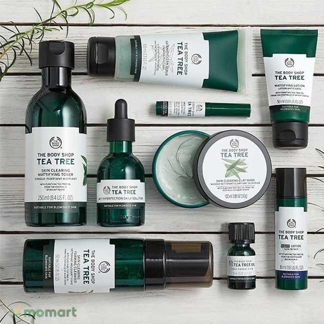 Toàn bộ sản phẩm tràm trà The Body Shop Tea Tree Skin Clearing Toner