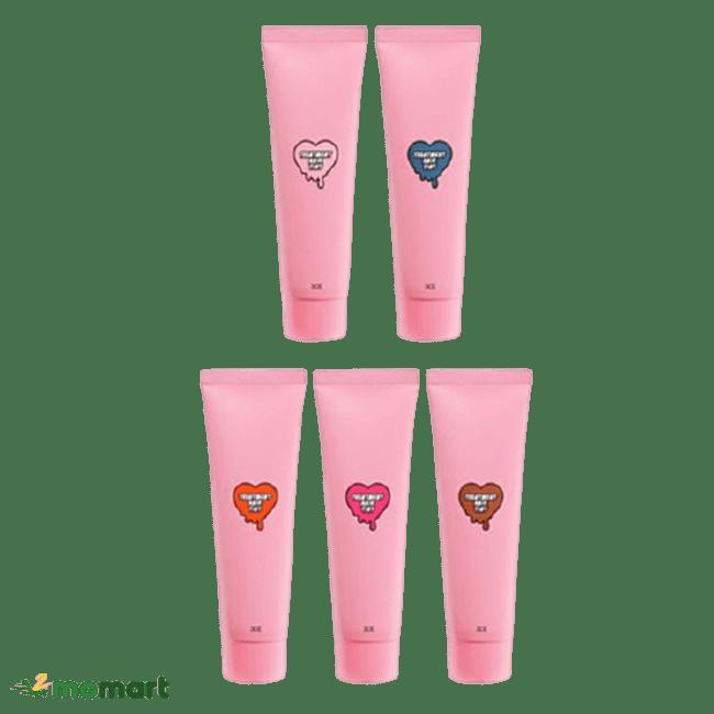 3CE Treatment Hair Tint năm màu khác nhau