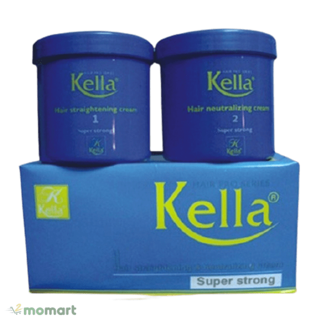 Kem duỗi tóc Kella xanh dương