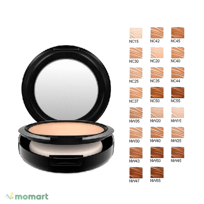 Mac Studio Fix Powder Plus Foundation đa dạng bảng màu
