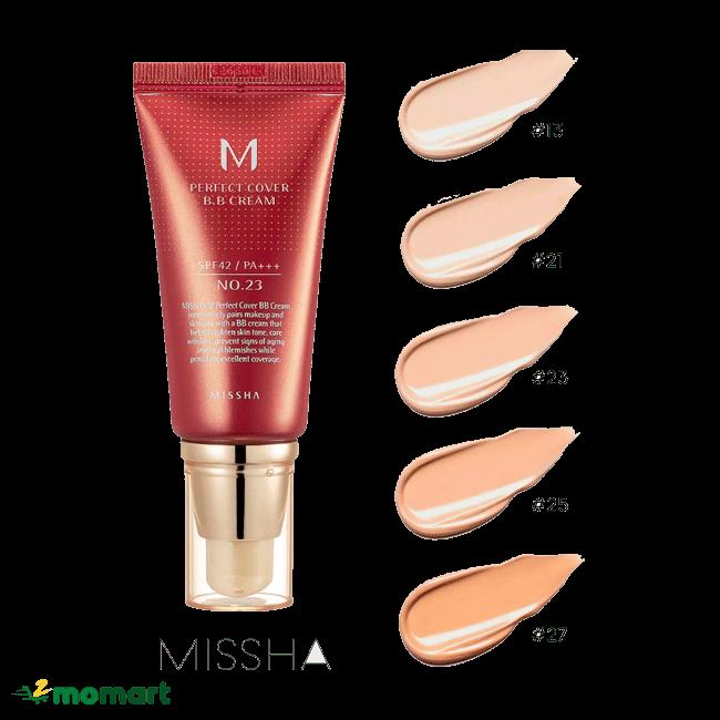 Kem nền Missha M Perfect Cover BB Cream có mức giá phải chăng