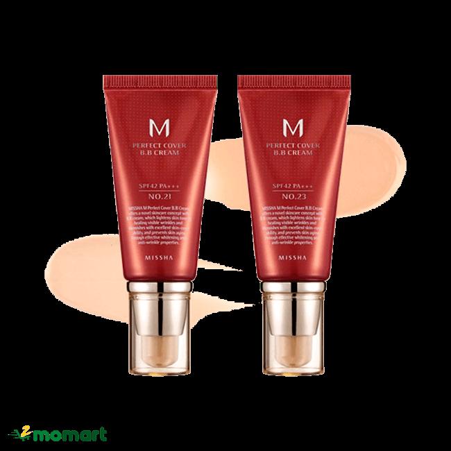 Kem nền Missha M Perfect Cover BB Cream giúp chống nắng cao
