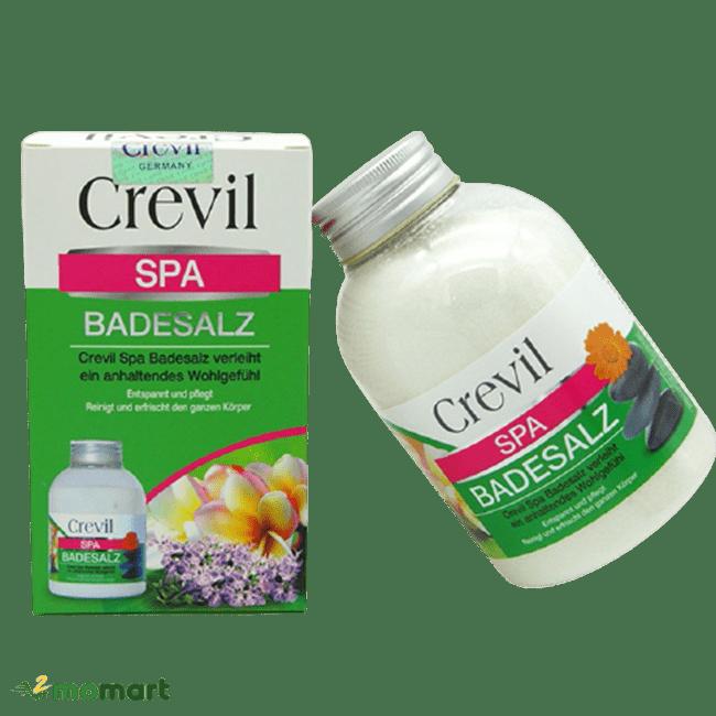 Hướng nghiêng của muối tắm Crevil