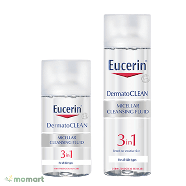 Nước tẩy trang Eucerin sở hữu 3 công dụng