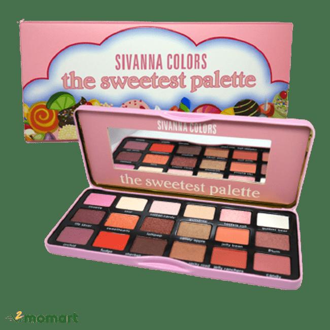 Bảng màu hồng của phấn mắt Sivanna
