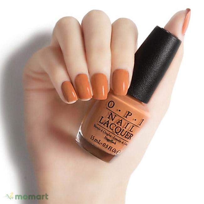 Sơn móng tay OPI màu cam đất