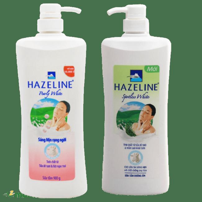 Hai phiên bản của sữa tắm trắng da Hazeline