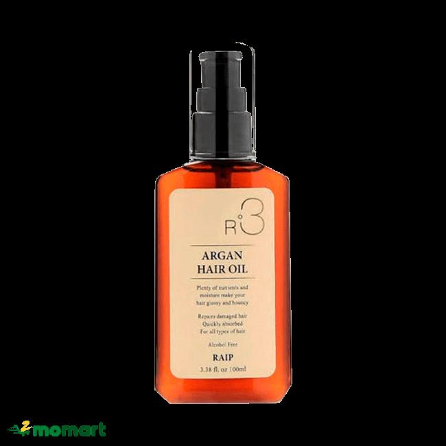 Tinh dầu dưỡng tóc Raip R3 Argan Hair Oil chất lượng
