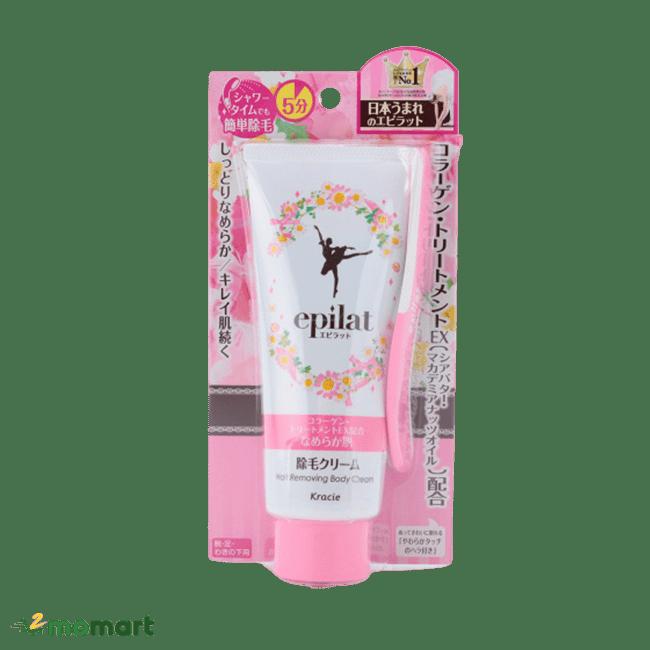 Kem tẩy lông Epilat Kracie màu hồng