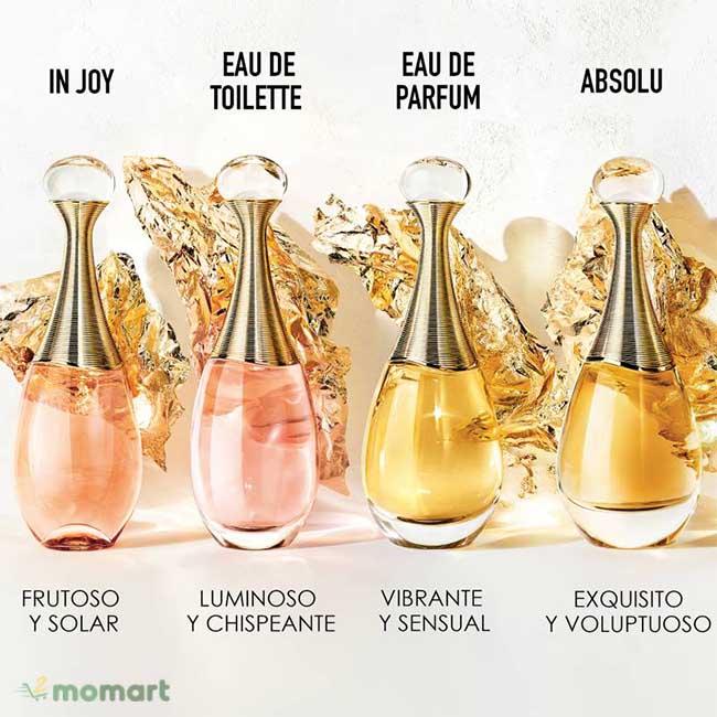 Nước Hoa Dior J'adore 4 phiên bản bán chạy nhất