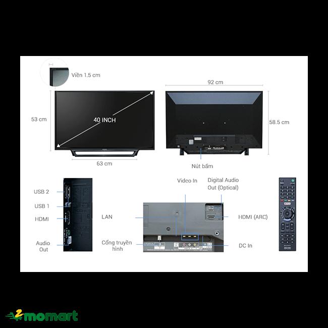 Tivi Sony 40 inch KDL-40W650D bao gồm nhiều tính năng hiện đại