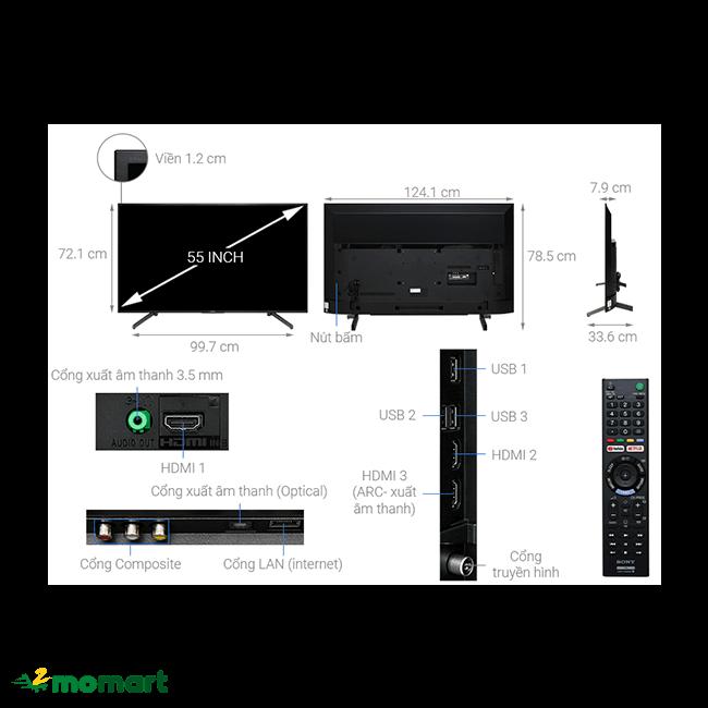 Tivi Sony 4K 55 inch KD-55X7000G có công nghệ tiên tiến