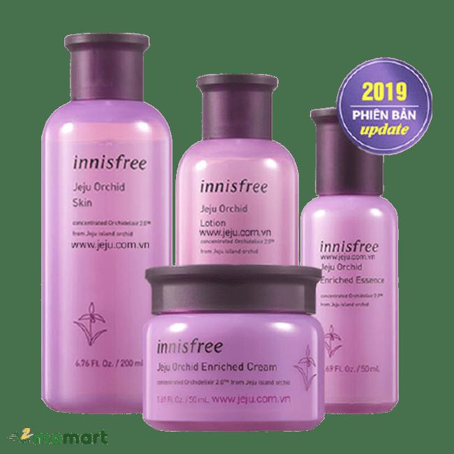 Bộ mỹ phẩm Innisfree Jeju Orchid Set năm 2019