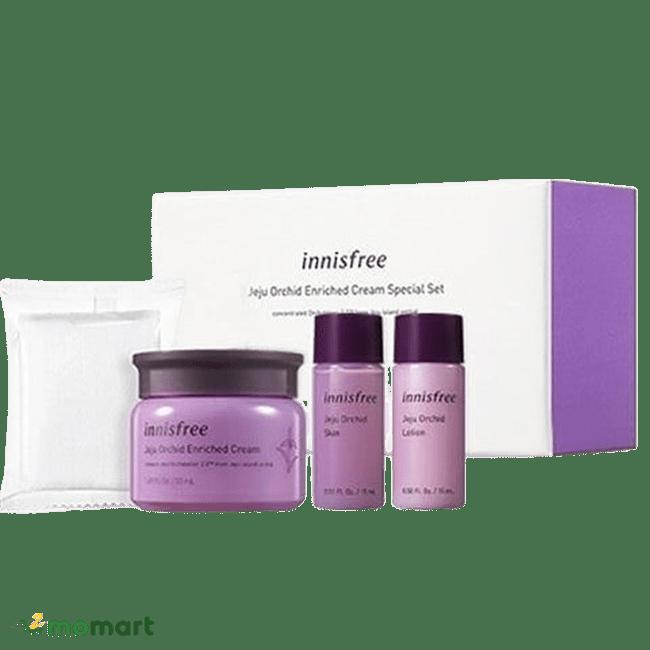 Bộ mỹ phẩm mini Innisfree Jeju Orchid Set