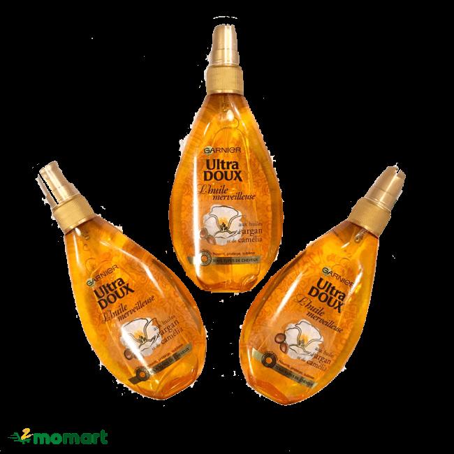 Dầu dưỡng tóc Garnier Ultra Doux dành cho tóc hư tổn