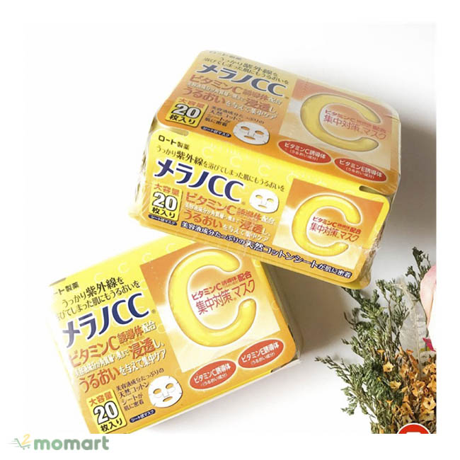 Mặt nạ Melano CC Vitamin C giúp làm sáng da