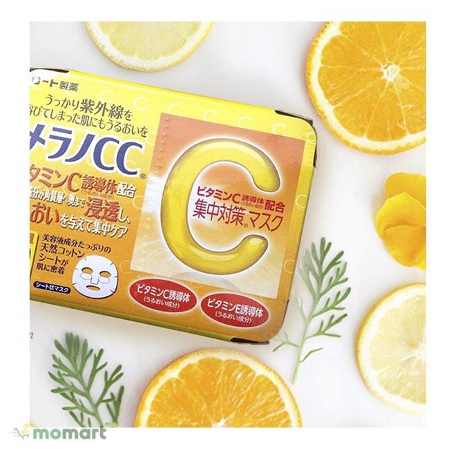 Mặt nạ Melano CC Vitamin C ngăn chặn lão hóa