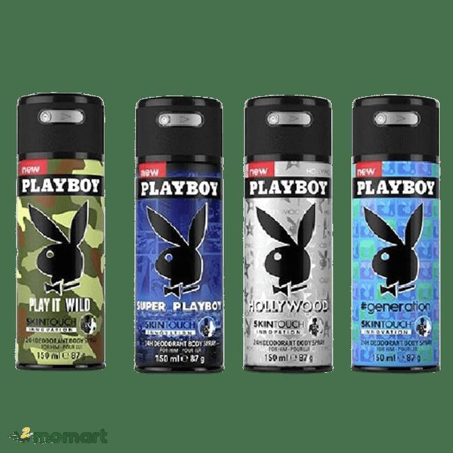 Bốn phiên bản Playboy 24h Deodorant Body Spray