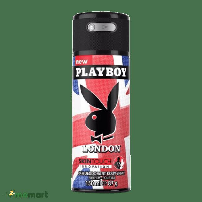 Playboy 24h Deodorant Body Spray màu đỏ