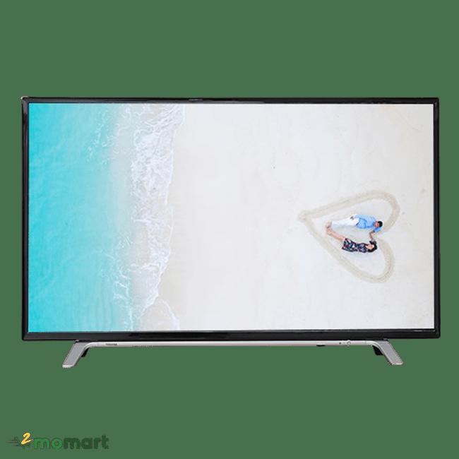 Smart Tivi Toshiba 49 inch 49L5650 chụp trực diện