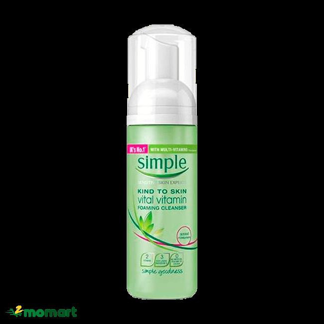 Sữa rửa mặt Simple cho da sáng khỏe
