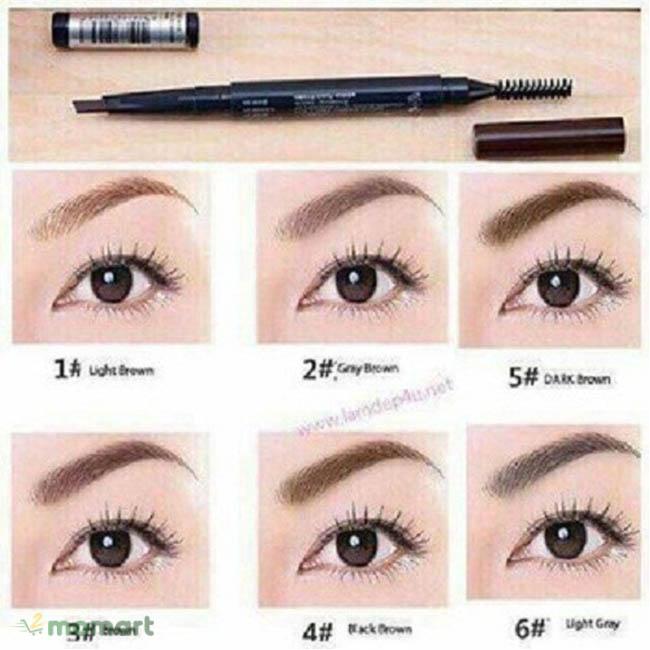 Thành phẩm khi dùng The Face Shop Designing Eyebrow Pencil