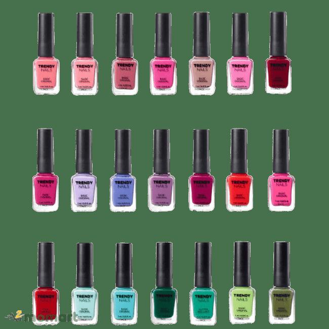 Bảng màu của The Face Shop Trendy Nails