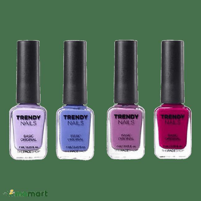 The Face Shop Trendy Nails bốn màu nổi nhất