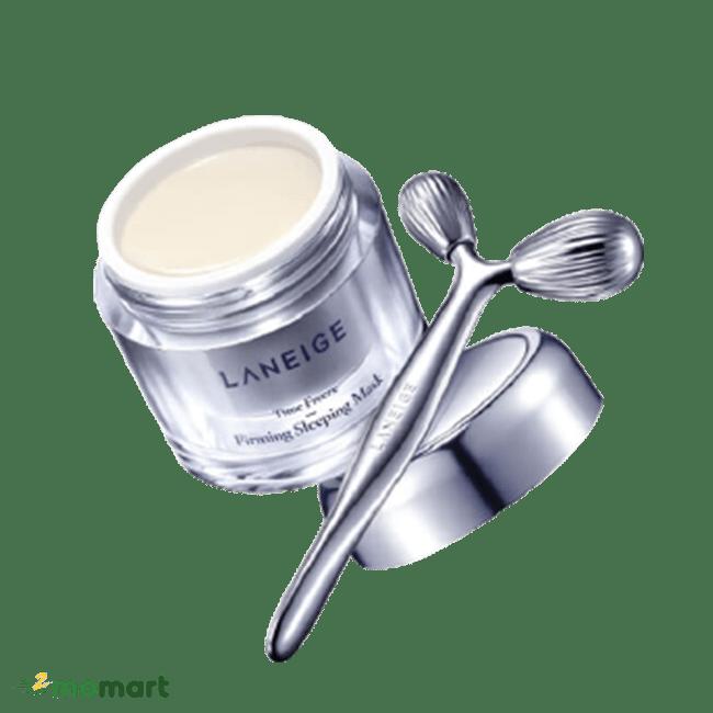 Cây massage sử dụng kèm với Laneige Time Freeze Firming Sleeping Mask