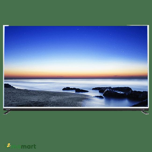 Tivi Toshiba 65 inch 65U9750 chụp trực diện