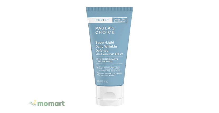 Paula's Choice Resist Super - Light Daily Wrinkle Defence SPF 30 cho da mụn