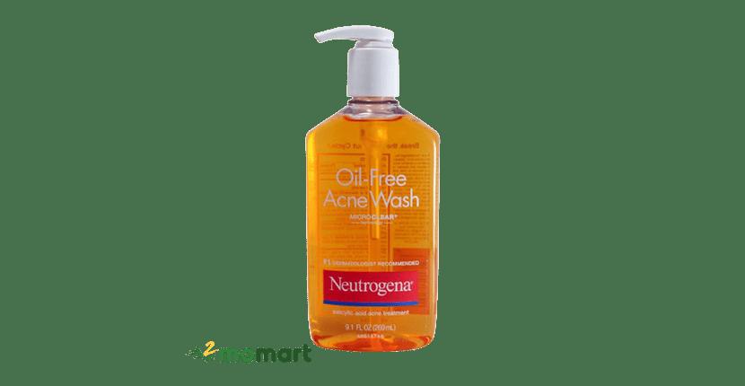 Sữa rửa mặt Neutrogena Oil-Free Acne Wash dung tích lớn