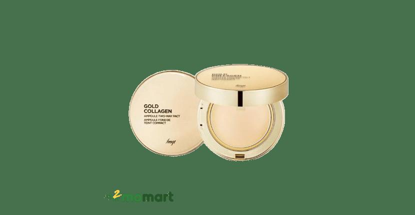 Gold The Face Shop Collagen Ampoule Two-Way Pact che khuyết điểm