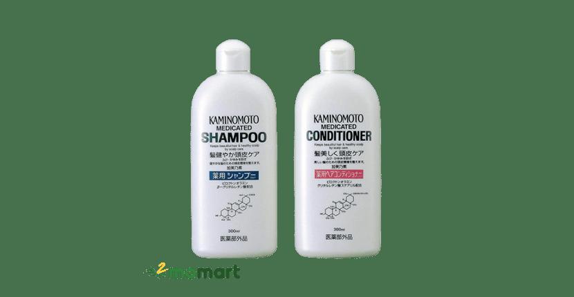 Dầu gội giúp mọc tóc Kaminomoto Medicated (Nhật Bản)