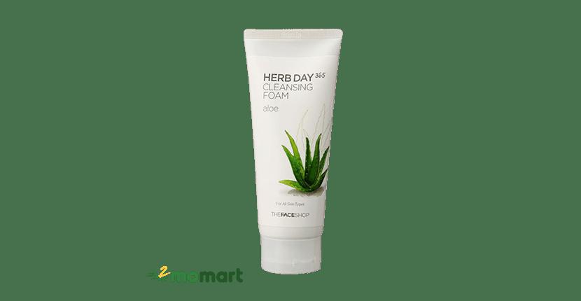Sữa Rửa Mặt Nha Đam The Face Shop Herb Day 365 Cleansing Foam Aloe