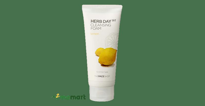 Sữa rửa mặt The Face Shop Herb Day 365 Lemon 170ml