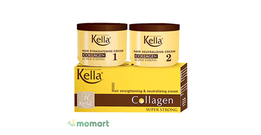 Kem duỗi tóc Kella Collagen Super Strong
