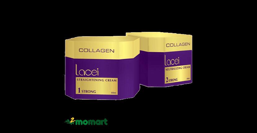 Kem duỗi tóc không cần kẹp nhiệt Collagen Lacei