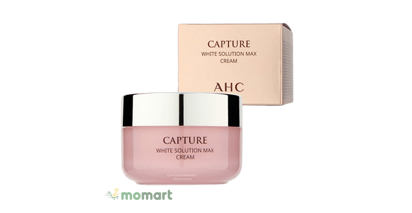 AHC Capture White Solution Max Cream hỗ trợ cấp ẩm