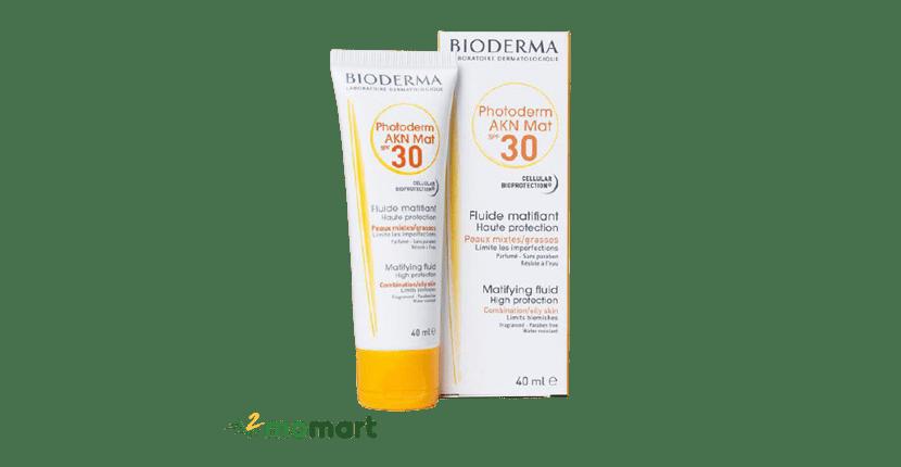 Kem chống nắng dành cho da mụn Bioderma Photoderm Akn Mat SPF 30