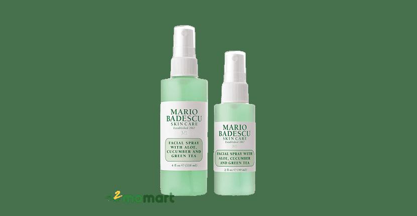 Mario Badescu Facial Spray with Aloe, Cucumber and Green Tea cho da mụn