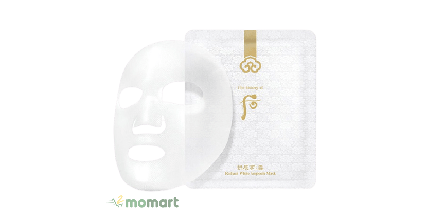 Whoo Radiant White Ampoule Mask