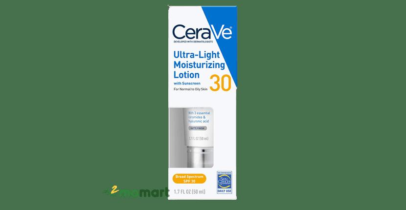 Sữa dưỡng thể CeraVe Ultra-Light Moisturizing Lotion SPF 30 có chống nắng