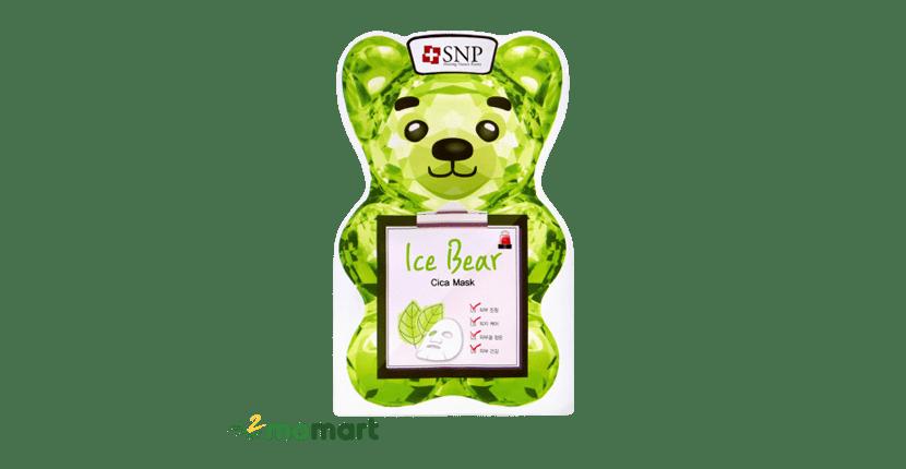Mặt nạ cho da nhạy cảm SNP Ice Bear Cica Mask làm dịu da