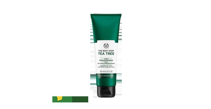 Tẩy tế bào chết The Body Shop Tea Tree 3-in-1 Scrub giúp làm sạch da nhanh chóng