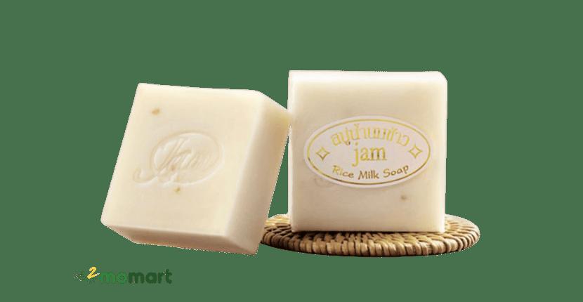 Xà Thái Lan bông tắm trắng Jam Rice Milk Soap