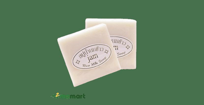 Xà phòng trị thâm mông Lan Jam Rice Milk Soap cho da trắng mịn