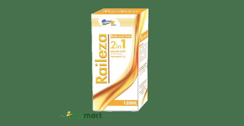 Dầu gội trị chấy Raileza cung cấp thêm dưỡng chất cho tóc